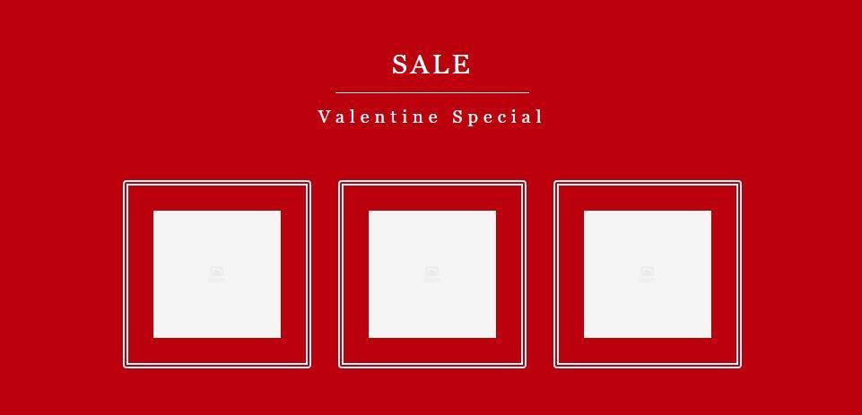 【汎用テンプレート】画像・バナー変更可能 バレンタインデー セール用無料パーツ iframeテンプレート 楽天市場、ヤフーショッピング、自社サイト対応